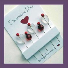 Beaded Sewing Pins - Quilting Pins -  Pincushion Jewelry. $6.50, via Etsy.