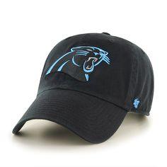 Carolina Panthers Clean Up Black 47 Brand Adjustable Hat 07c6ec69016c
