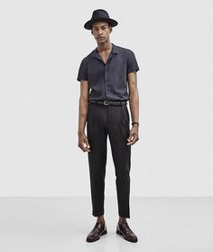 The Kooples 2016 Spring Summer Menswear Look Book 004 Update Your Wardrobe with The Kooples Key Fashions 1950s Fashion Menswear, Vintage Fashion 1950s, Vintage Mode, 1950s Mens Fashion Casual, 1950s Casual, Vintage Hats, Victorian Fashion, Vintage Style, Cuba Fashion