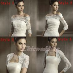 Long/Off Shoulder Sleeve Lace Jacket Bolero Coat Bridal Wedding Wrap Shawl May not ship to United Kingdom Wedding Coat, Wedding Jacket, Wedding Attire, Lace Wedding, Wedding Dress Bolero, One Shoulder Wedding Dress, Wedding Dresses, Bride Dresses, I Dress
