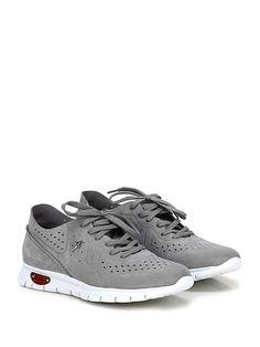 PACIOTTI 4US - Sneakers - Uomo - Sneaker in camoscio con suola in gomma light, tacco 35, platform 20 con battuta 15. Interno sfoderato. - GREY - € 238.00