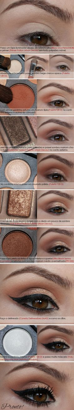 Cocoa Make UP: Tutorial - Brown and Gold