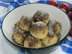 Old classic recipe for plum balls from potato dough . - Old classic recipe for plum balls from potato dough … it& a recipe that I& been doin - Slovak Recipes, Czech Recipes, Russian Recipes, My Recipes, Vegan Recipes, Dessert Recipes, Cooking Recipes, Recipies, Plum Dumplings