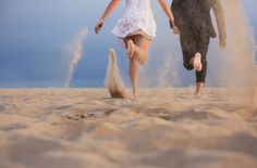 Running barefoot in sand