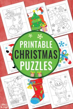Printable Christmas Puzzles for Kids - itsybitsyfun.com
