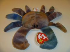 TY Beanie Babies Claude the Crab Stuffed Animal Plush Toy - 6 inches long - Brown Beanie Babies Value List, Beanie Babies Worth, Valuable Beanie Babies, Beenie Babies, Most Expensive Beanie Babies, Ty Peluche, Puff The Magic Dragon, Ty Babies, Ty Beanie Boos