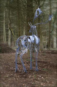 The Fabulous Weird Trotters — Ghostly Deer Sculpture by David Freedman
