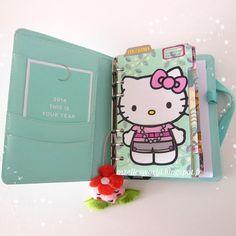 Kikki K with Hello Kitty ♥ #kikkik #filofax #organizer #mint #hellokitty #kawaii #stationery #colorful