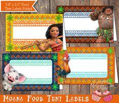 Moana Food Tent Labels