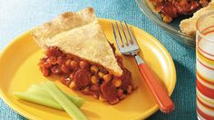 Think beyond the bun, and create favorite flavors in a pie. This fork food is a lot less sloppy!