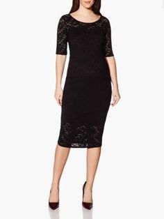 3/4 Sleeve Lace Maternity Dress available at Thyme Maternity