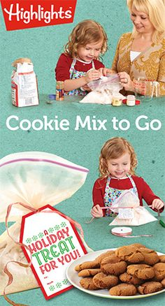 Cookie Mix to Go - A holiday gift that the kids can make (includes a printable gift tag and recipe card!)