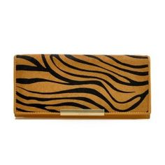 Leather Horsehair Long Wallet