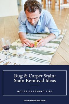 Many ideas for rug stain removal that will help you finally get the stains from your rugs. See the article for details on removing rug stains. House Cleaning Tips, Cleaning Hacks, Stain Remover Carpet, Removing Carpet, Carpet Stains, Clean House, Rugs On Carpet, Ideas, Thoughts