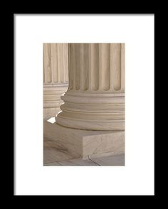 Pillars Of Law And Information At The United States Supreme Cour Framed Print by…
