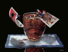 Limted edition Giclee canvas art prints Michael Godard gambling Art, Black Jack and Coke Jack Daniels Cola, Godard Art, Wall Candy, Wine Art, Selling Art Online, Limited Edition Prints, Coke, Art Boards, Canvas Art Prints
