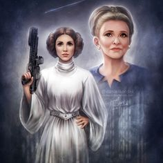 """daekazu: """" May the Force be with you, farewell Princess… Rest in peace Carrie Fisher… """""""