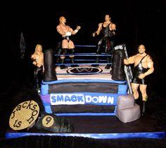 boys birthday  cake for 9 years old wrestling    SMACKDOWN WRESTLING RING — Wrestling / WWE