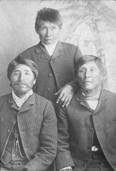 L-R: Soloman, Long Jack, Brown - Klamath - circa 1875