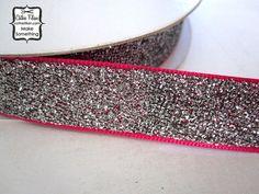 Add this.... Silver Glitter Ribbon  5 yards  Metallic Sparkle by cathiefilian, $6.20