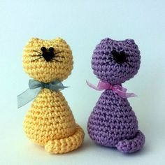 Free Pattern to make amigurumi cats (Italian blog). ༺✿ƬⱤღ  https://www.pinterest.com/teretegui/✿༻