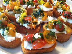 She Eats Well: Summer Tomato Bruscetta