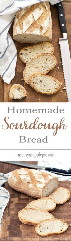 Making homemade sourdough bread is easy, it only takes a little pre-planning. Italian recipe with step by step tutorial