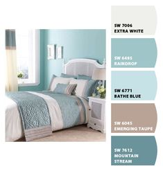 Ducke Gg Duvet Cover Bedding Set Duck Egg Blue And Brown Bedroom . Aqua Blue Bedrooms, Blue Bedroom Decor, Bedroom Green, Blue Rooms, Bedroom Colors, Dream Bedroom, Home Bedroom, Bedroom Ideas, Summer Bedroom