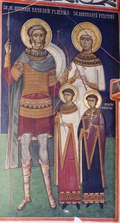 St Eustace and his family