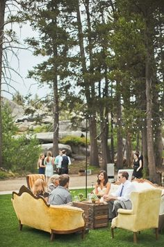 Outdoor Lake Tahoe Wedding from Orange Turtle Ruffled