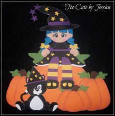 Scrappy Witches created by Too Cute by Jessica. Using ScrappyDew Creations paper piecing patterns.