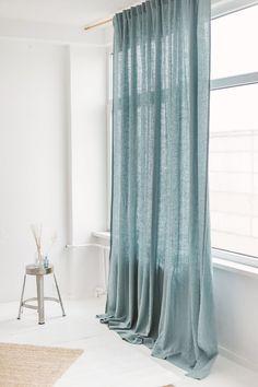 Window Drapes, Linen Curtains, Aqua Curtains, Blue Curtains Living Room, Marimekko, Extra Long Curtains, Curtain Rods, Curtain Fabric, Decoration