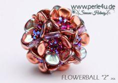"www.PERLE4U.de - Perlen * Anleitungen * Schmuck: Flowerball ""2"""