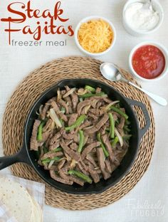 easy beef fajita freezer meal recipe image