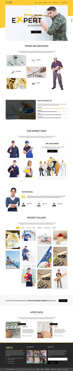 Dexterity is a contemporary WordPress theme for businesses related to Handyman, #Construction, Architect and #Plumbers #website. Download Now!
