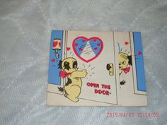 1942 Puppy Dog Valentine, used, a little wear and spotting on back. by VintageNEJunk on Etsy