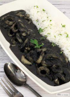 Receta tradicional de calamares en su tinta