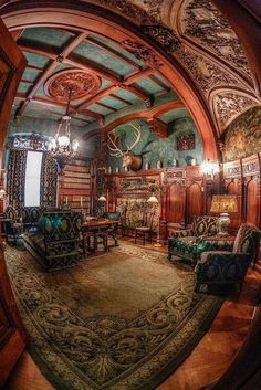Sitting Room - Frederick Vanderbilt Mansion in Hyde Park, NY (built in 1896)