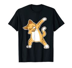 """Our cute Cat Humor """"Dabbing Cat"""" T-Shirt is the perfect gift idea for Men and Women who loves cats. It's a great Cat Humor gift idea for a birthday or Christmas. People who like cats and kitties will love this funny Cat Humor tee shirt. It's the perfect gift for mom, dad, son, daughter or other family members. Get this cat humorous present for the biggest cat lovers in your life! Funny Tee Shirts, Cat Shirts, Perfect Gift For Mom, Gifts For Mom, Dad Son, Daughter, Dabbing, Big Cats, Funny Gifts"""