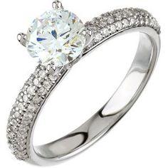 67579 / Engagement Ring / Semi-set / 14K White / SI2-SI3 / 5.2 mm / Polished / 3/8 CTW Diamond Semi-set Engagement Ring