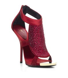 a6d5a74442ac9 Giuseppe Zanotti Christina Diamante Sandal in Red (gold) with exquisite  beading and divine design.