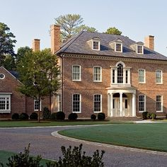 I will only live in a Gregorian or Colonial Style home.