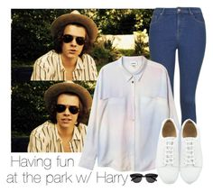 """""""Having fun at the park with Harry"""" by selda2424 ❤ liked on Polyvore featuring Topshop, Monki and Yves Saint Laurent"""