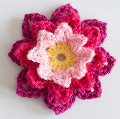 virkad blomma näckros mormorsruta gratis mönster