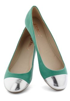 Metallic Cap Toe Flats