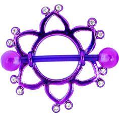 BIOPLAST Purple STAR Nipple Shield | Body Candy Body Jewelry #bodycandy #nipplering #piercing
