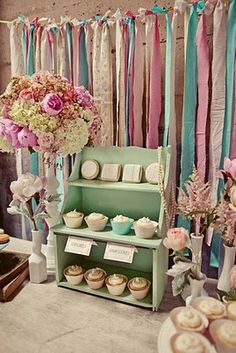 cupcake display and I have 3 of these type shelving units that I had in my store!