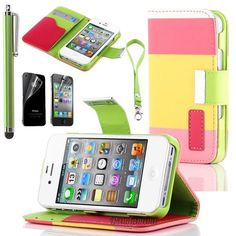 Pandamimi ULAK Colorful PU Leather Wallet Type Magnet Design Flip Case Cover for IPhone 4 4G 4S with Screen Protector+ Stylus by ULAK, http://www.amazon.com/dp/B00AWNTX8U/ref=cm_sw_r_pi_dp_KsSprb0SNDN5C