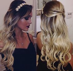 69 Ideas Bridal Hairstyles For Long Hair With Tiara Beautiful Wedding Hair And Makeup, Bridal Hair, Hair Makeup, Bridal Portrait Poses, Quinceanera Hairstyles, Pink Party Dresses, Bride Hairstyles, Marie, Instagram