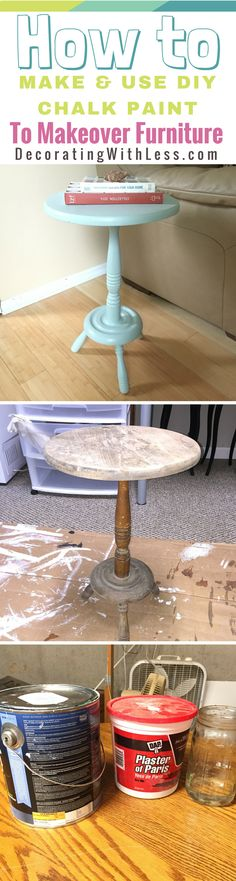 Learn my Easy Step-by-Step process for making DIY Chalk Paint and how to use it on your next furniture makeover.